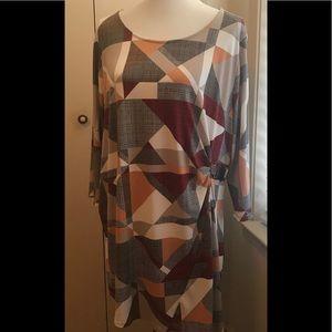 Alifani Asymmetrical hem Tunic top Sz 3X